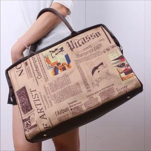 Handbags - Travelers large tote satchel canvas nylon leather